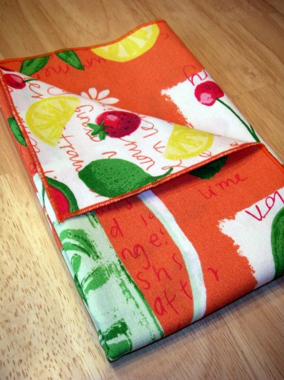 Citrus Fruit - Double Sided Cloth Napkins - Set of 4
