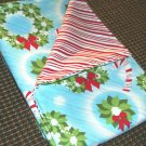 Wreath & Candy Stripes - Double Sided Cloth Napkins - Set of 4