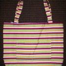 Large Tote - Bright Modern Stripe - Fabric Handles