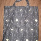 Moons and Bats - Reusable Trick or Treat Tote or Gift Bag