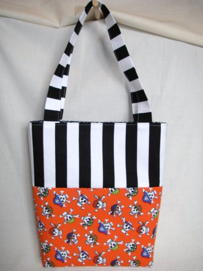 Structured Medium Tote, Diaper bag, Knit or Sew Tote, Carry all - Pirates