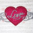 LOVE - Embroidered Hand Towel