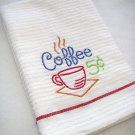 Coffee 5 cents - Embroidered Hand Towel
