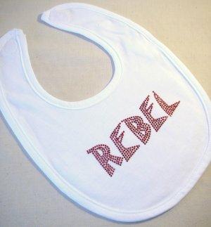 Rockin' Rebel Applique Baby Bib