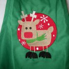 Child's sized Apron - Rudolph Reindeer - Green apron