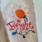 Child's sized Apron - Bright Holiday light Christmas design - white apron