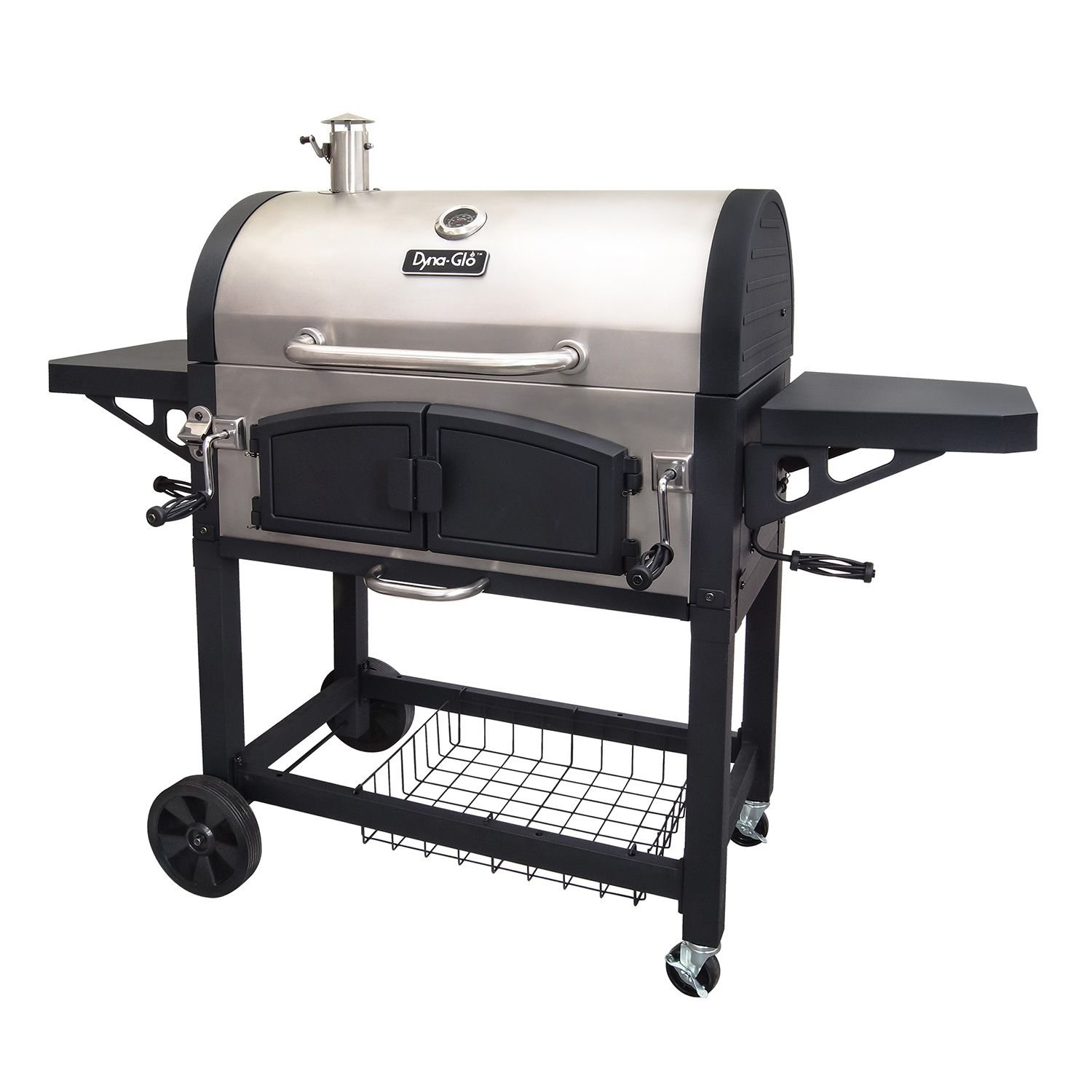 Dyna-Glo Charcoal Dual-Zone Stainless Steel Premium Grill