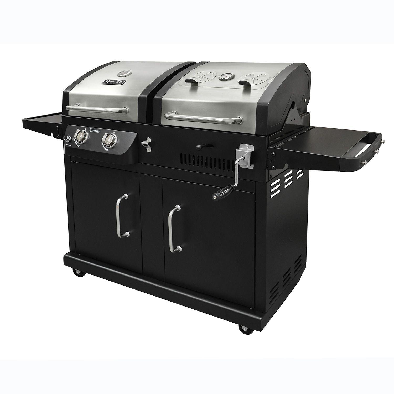 Dyna-Glo 24,000 BTU 2 Burner Dual Fuel LP Gas and Charcoal Grill