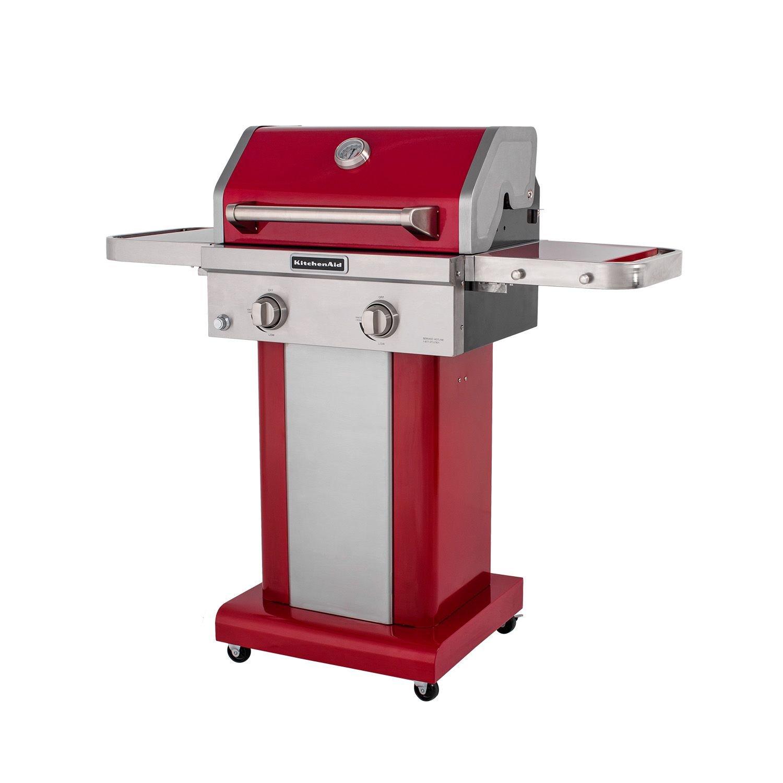 KitchenAid 2-Burner Patio Gas Grill - Red