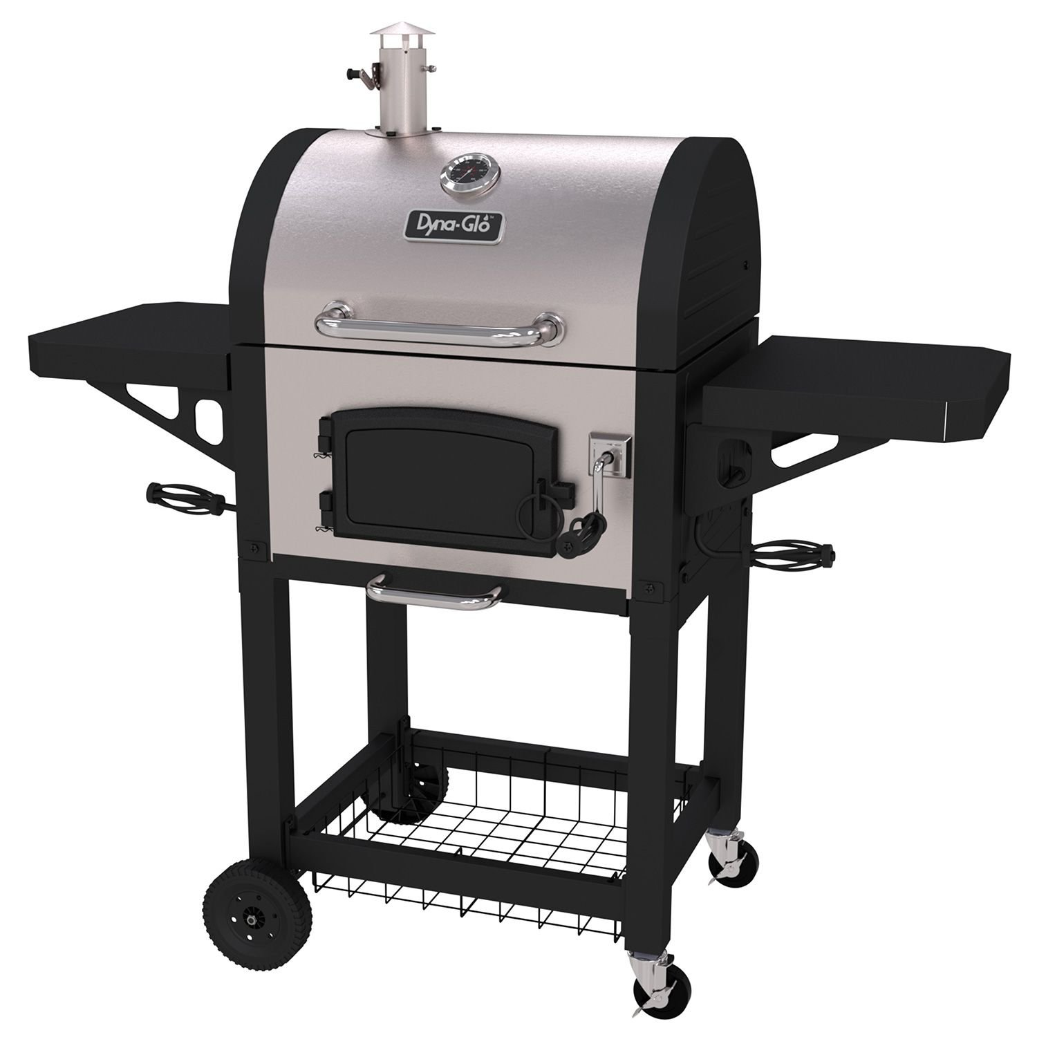 Dyna-Glo Heavy Duty Stainless Charcoal Grill - 568 sq. in.