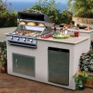 Cal-Flame 6 ft BBQ Island with 4 Burner Gas Grill and Granite Top