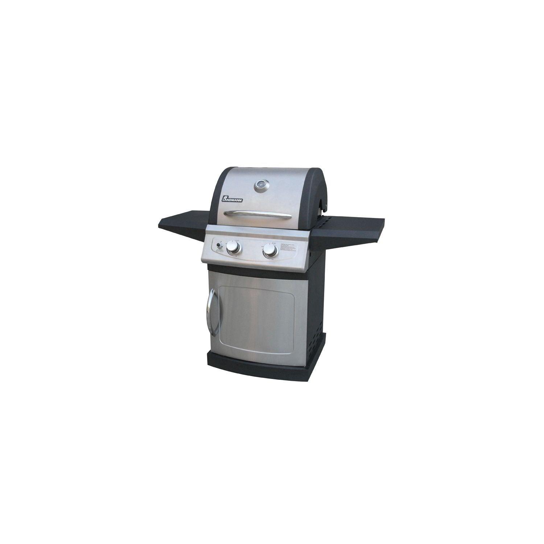 Landmann Falcon Series LP Gas Grill 2 Burner Black and Stainless Steel