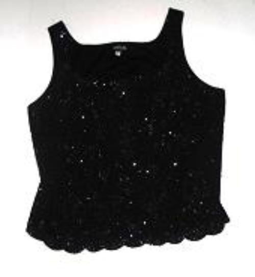 Pre-owned ONYX NITE Women's Black Sleeveless Top Size 2X