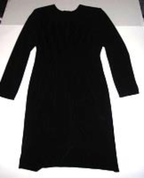 Pre-owned POSITIVE ATTITUDE Women's Long Sleeve Black Pleated Dress Size 10