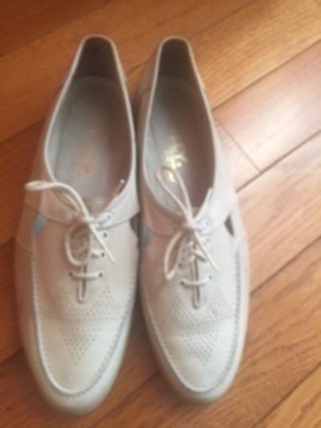 Pre-owned VTG BALLY Off White Leather Cut Out Lace Up Shoes Rubber Soles SZ 10M