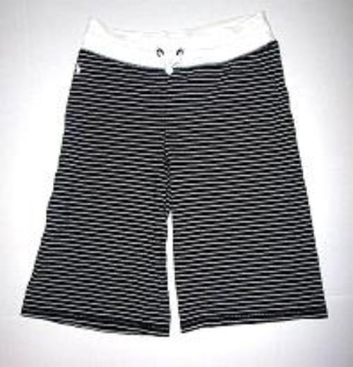 Pre-owned RALPH LAUREN Women's Black/White Stripe Shorts Size Large 12/14