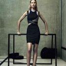 NWT Alexander Wang x H&M Halter neck Gray w/ Blue Bodycon Dress SZ 10 SOLD OUT