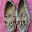 Authentic Cole Haan Snakeskin Stamped Leather BoatShoe SZ 6B