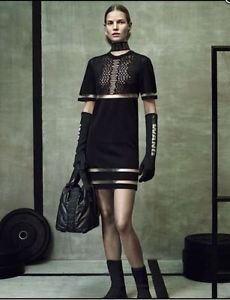Alexander Wang x H&M Black Knit w/ Cut Out Short Sleeve Dress SZ M SOLD OUT