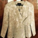 NWT Giorgio Armani Cream, beige & Silver Abstract Pattern Blazer Jacket Sz US 6