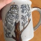 Pre-owned Multicolor Vintage OWL on Tree Branch Mug Made in Japan
