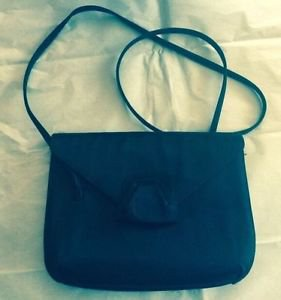 VTG VGC Giorgio Armani Black Envelope Satin Evening Bag/Handbag/Purse SZ S