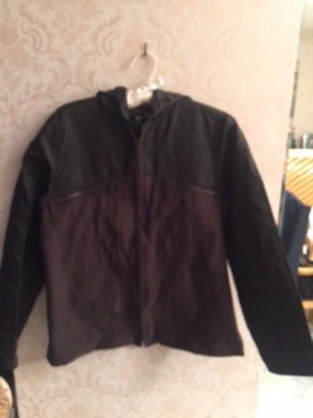 NWOT MARITHE + FRANCOIS GIRBAUD Dark Olive Nylon Jacket SZ Medium RUNS SMALL