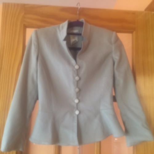Pre-owned ARMANI COLLEZIONI 100% Cashmere Seafoam Green Jacket Blazer SZ 2