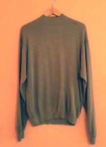 EUC BARACUTA Men's Bronze Silk Blend Knit Sweater Long Sleeve SZ M