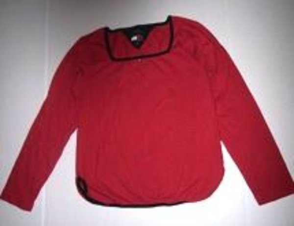 Pre-owned VTG TOMMY JEANS Juniors Red/Blue Long Sleeve Shirt (Girls) Size M