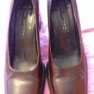 Authentic Via Spiga Brown Square Toe Pumps SZ 9B Made in Italy