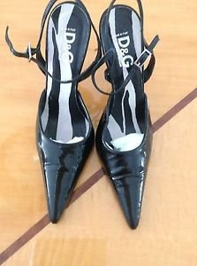 NWOB D&G Black Patent Leather Stiletto Heels SZ 36 Made in Italy