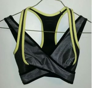 NWT Alexander Wang x H&M Black & Yellow Sports Bra Top SZ 8 SOLD OUT