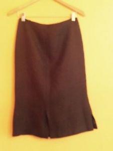 EUC Prada Heavyweight Dark Brown  Wool 3/4 Skirt, Size IT 44 US 10 Made in Italy