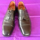 EUC Old Scotland Textured Black Leather Oxfords SZ 42 Made in Italy