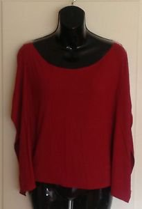 Authentic TUFI DUEK BRAZIL Cranberry Red Sleeveless Boat Neck Knitted Top Sz M