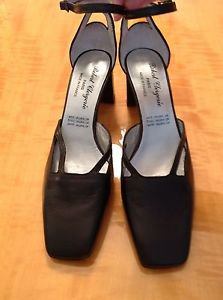 Authentic ROBERT CLERGERIE black chunky heel ankle strap sandals SZ 7