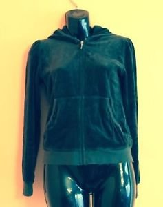 Juicy Couture Forest Green Hoodie SZ Girl's Youth 14