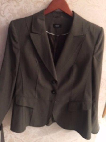 Pre-owned BASLER BLACK LABEL Wool Blend Gray Blazer SZ 42