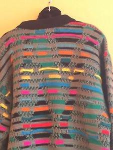 EUC VTG Coogi Multicolor 100% Mercerized Wool Sweater SZ XL COSBY BIGGIE HIPSTER