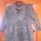 NWOT LILY PULITZER Green & Navy Animal Print 100% Cotton Blouse Tunic SZ S