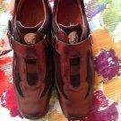 EUC Donald J Pliner Sport Metallic Leather Suede Velcro Strap Sneakers SZ 7M
