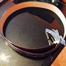 NWT Ardente Genuine Brown Italian Alligator Stamped Brown Leather SZ 36