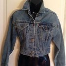 VINTAGE LEVI's Acid Washed Cropped Denim Jacket SZ L