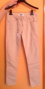 NWT PAIGE DENIM Beige Skyland Ankle Peg Jeans SZ 25 Made in USA