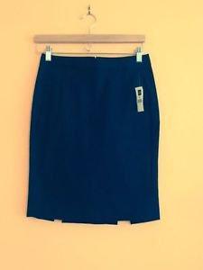 NWT GAP Black Cotton Blend Stretch Pencil Skirt SZ 0