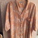 NWOT TOMMY BAHAMA  Orange & White Floral Pattern Short Sleeve Shirt SZ XXL
