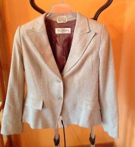 Authentic Max Mara pura seta 2 button rayon blend blazer SZ 10 Made in Italy