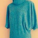Cynthia Rowley 100% Cashmere Gray Turtleneck Batwing Sweater SZ XS