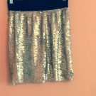 EUC ROMEO & JULIET COUTURE Gold Detail Attatched Bodycon Skirt SZ S